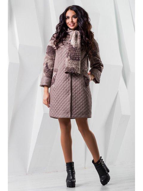 Пальто темно-бежевое Favoritti 3774763