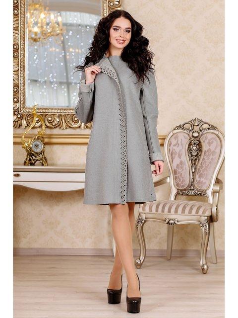 Пальто оливкового цвета Favoritti 3774783