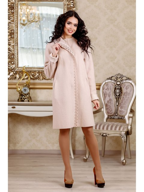 Пальто персикового цвета Favoritti 3774787