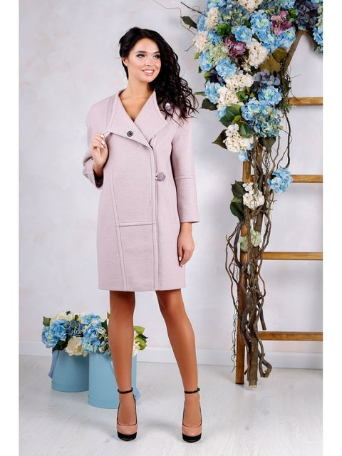 Пальто розовое Favoritti 3774791