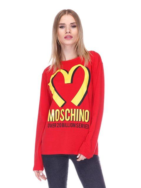 Лонгслив красный с принтом Love Moschino 1521733