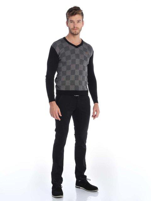 Пуловер чорний в клітинку Sir Raymond Tailor 3788488