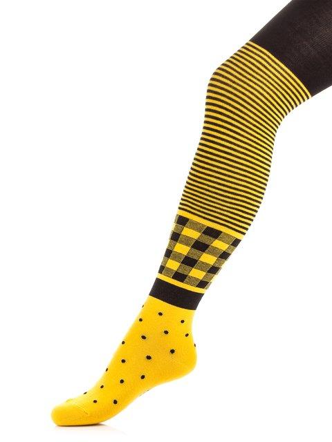 Колготки желтые с принтом Conte Kids 3750073