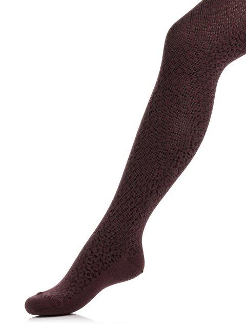 Колготки шоколадного цвета в ромб Esli 3750225