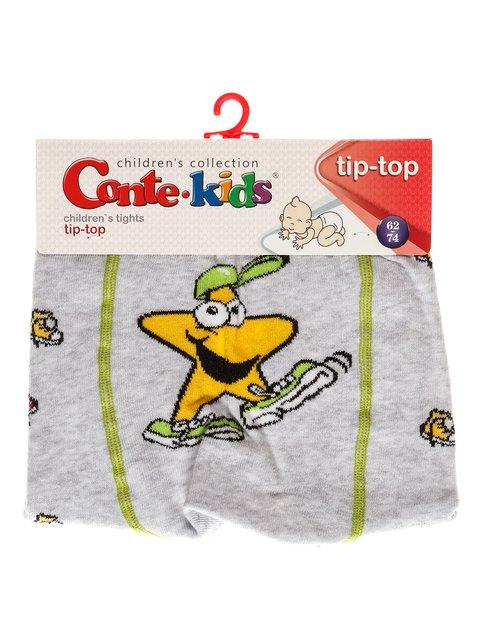 Колготки світло-сірі з принтом Conte Kids 3750018