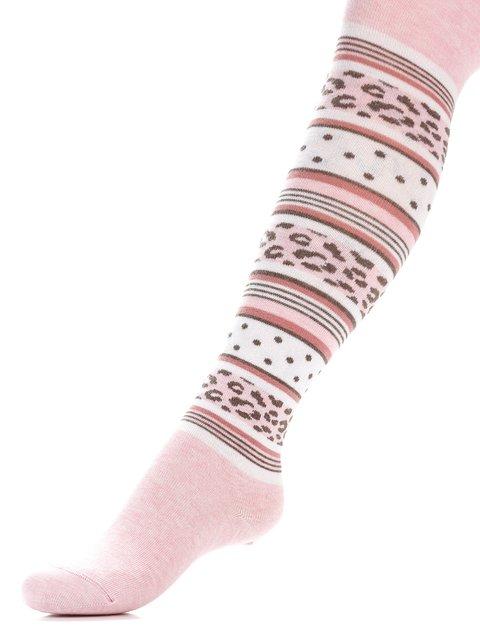 Колготки світло-рожеві з візерунком Conte Kids 3750047