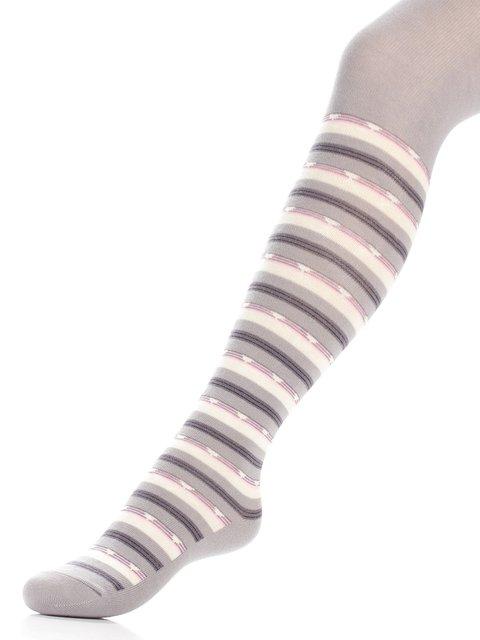 Колготки світло-сірі в смужку БЧК 3750483