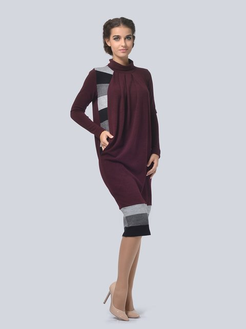 Платье бордовое LILA KASS 3794566