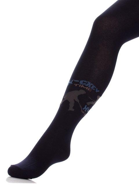 Колготки темно-синие с принтом БЧК 3750479