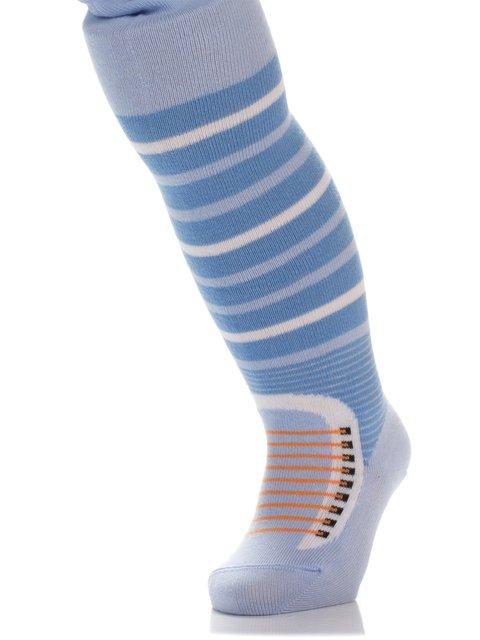 Колготки светло-голубые в полоску БЧК 3750416