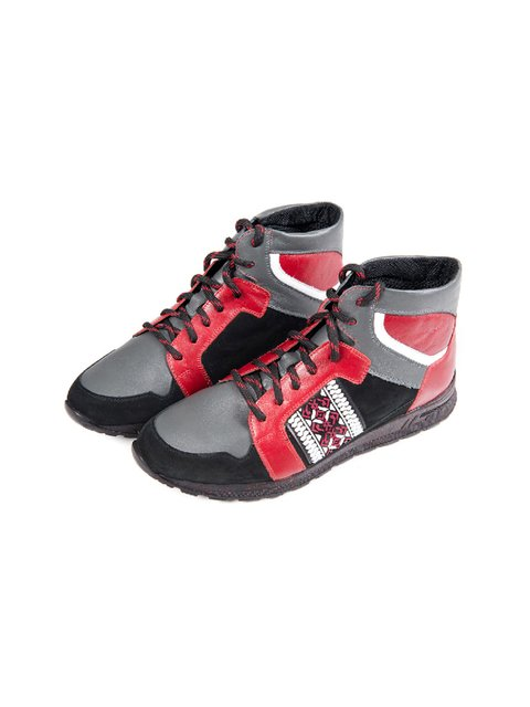 Кросівки червоно-чорні Freedom 3801749