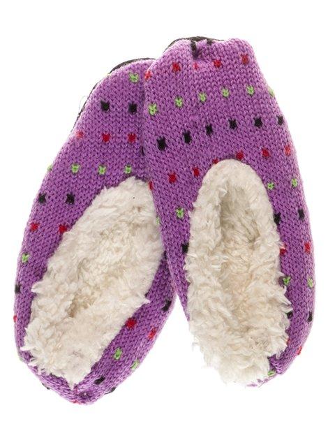 Тапочки бузкові в'язані 3D socks 661996