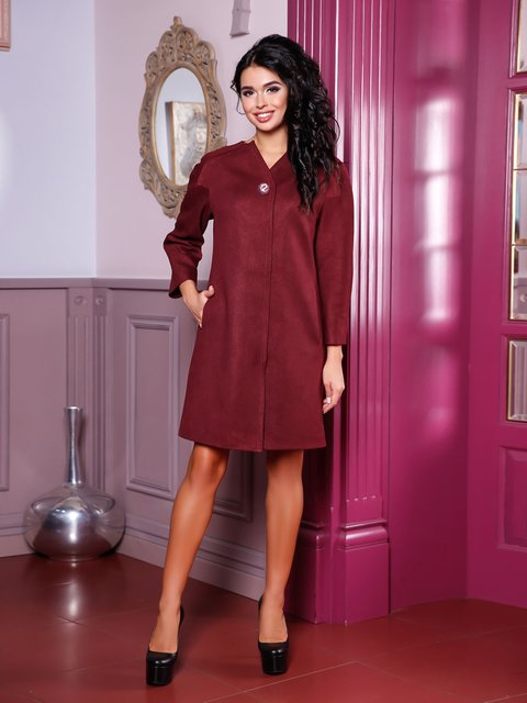 Пальто кирпичного цвета Favoritti 3810525