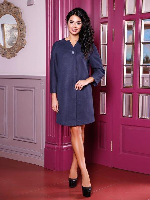 Пальто темно-синє Favoritti 3810529