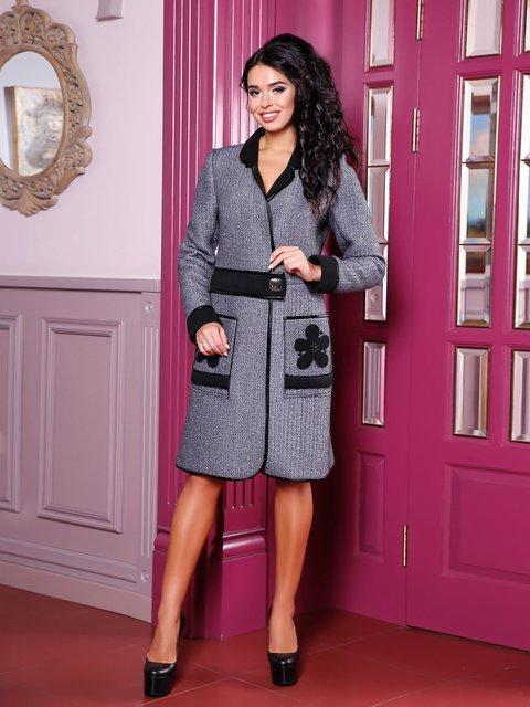 Пальто сіре Favoritti 3810594