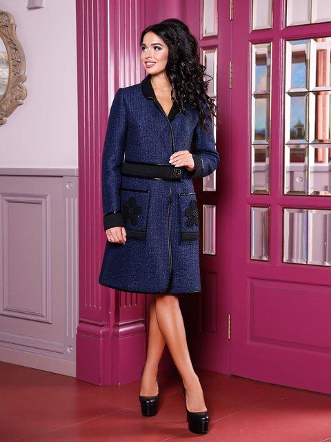 Пальто темно-синее Favoritti 3810596
