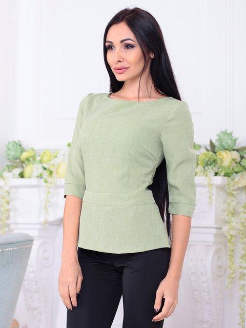 Блуза оливкового цвета Rebecca Tatti 3788251