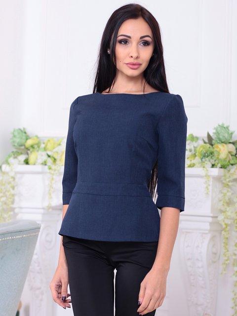Блуза темно-синяя Rebecca Tatti 3788252