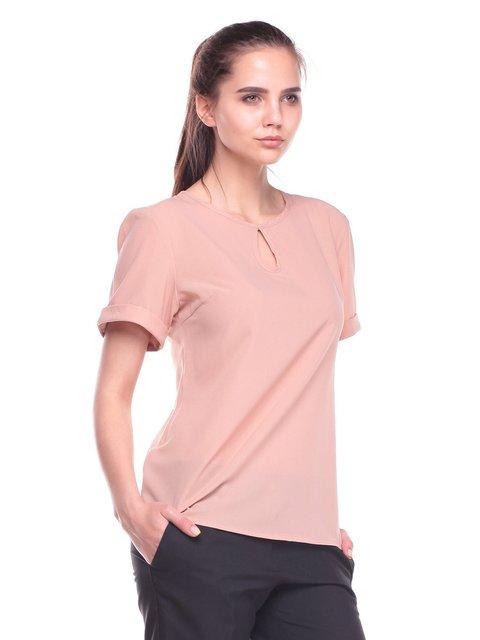 Блуза кольору мокко Dioni 3809843