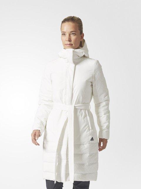 Пуховик белый Adidas 3793917