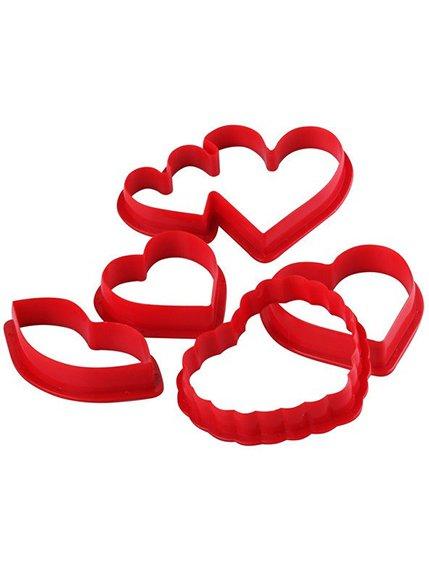 Форма для печива «Сердечка» (6 шт.) Trendy 3823184