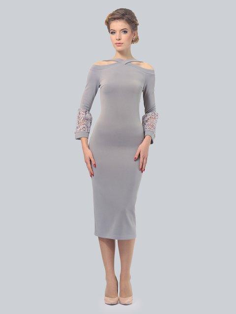 Платье светло-серое LILA KASS 3828061