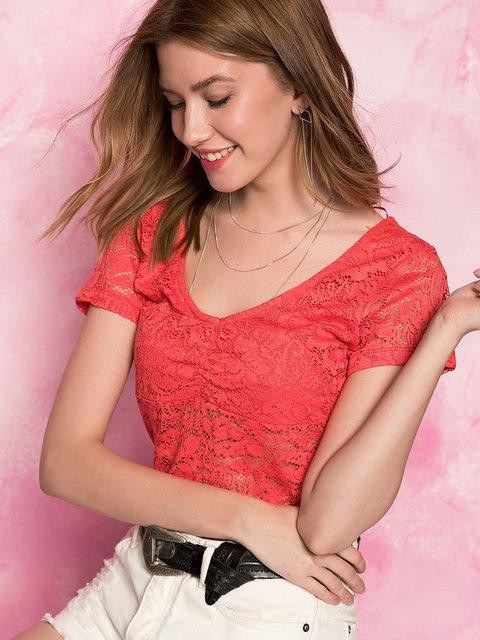 Блуза красная Cool&Sexy 3828411