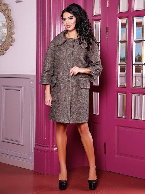 Пальто кофейного цвета Favoritti 3830981