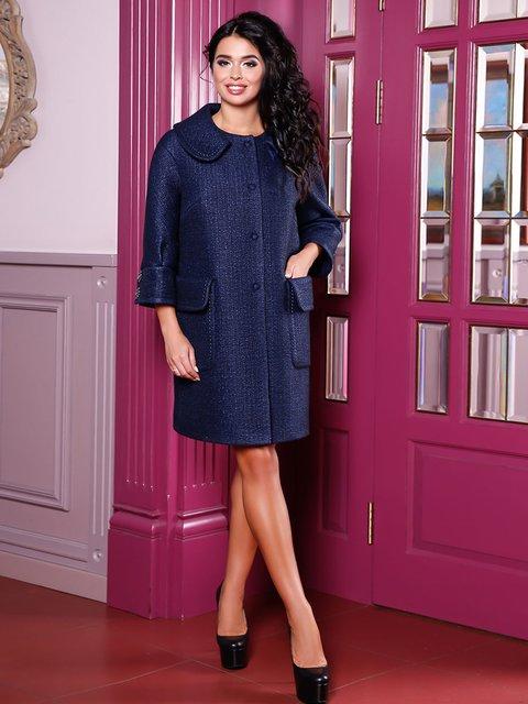 Пальто темно-синє Favoritti 3831050