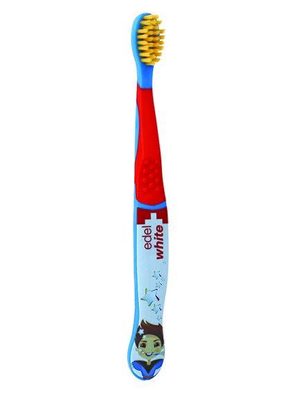 Зубна щітка м'яка з щетиною Konex® - синя Edel White 3839534