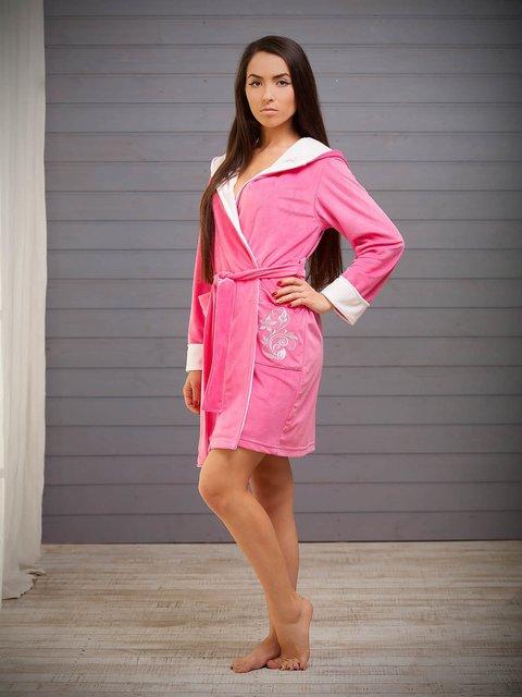 Халат розовый с вышивкой Danaya шелковые дети 3852218