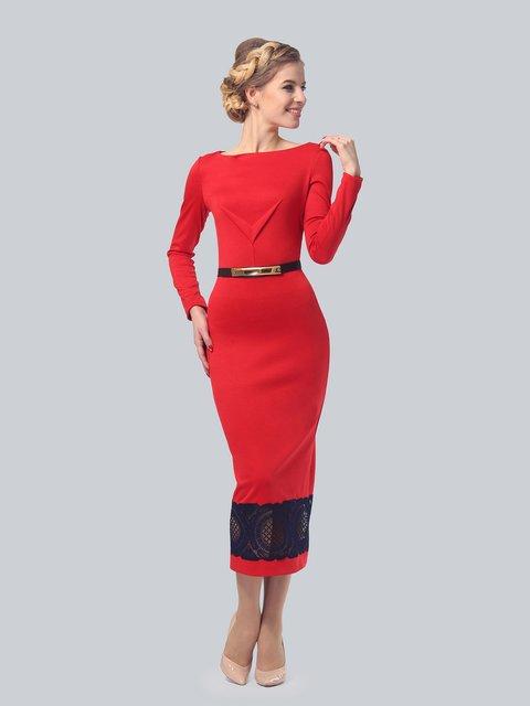 Платье красное LILA KASS 3851899