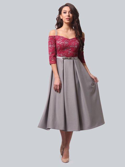 Платье серо-розовое LILA KASS 3851905