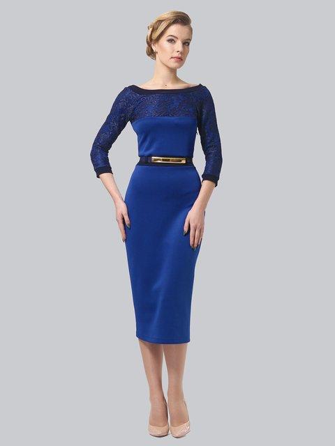 Платье цвета электрик LILA KASS 3851929