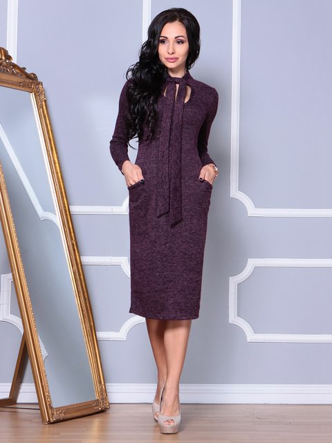 Платье цвета марсала Laura Bettini 3862490