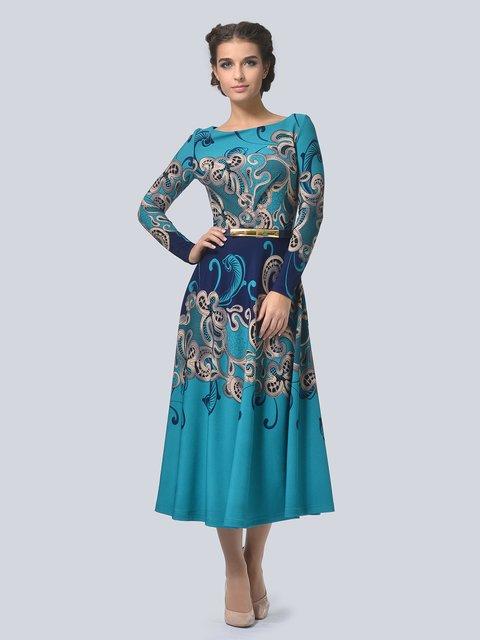 Платье синее в принт LILA KASS 3794587