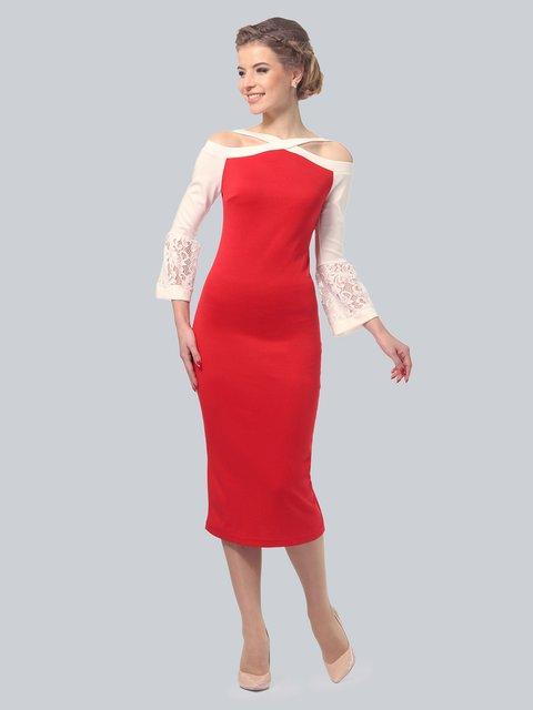 Платье красное LILA KASS 3828063