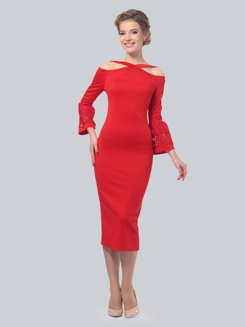 Платье красное LILA KASS 3840419