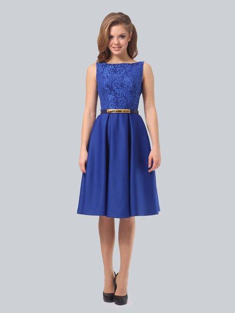 Платье цвета электрик AGATA WEBERS 3863271