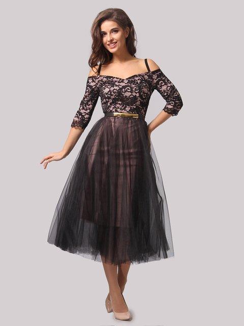 Платье черно-розовое AGATA WEBERS 3863284