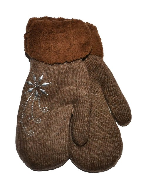 Варежки коричневые Finox 3866295