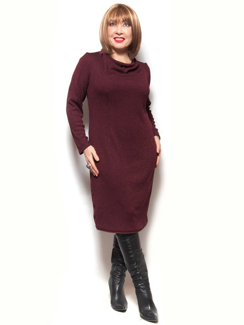 Платье бордовое LibeAmore 3866774