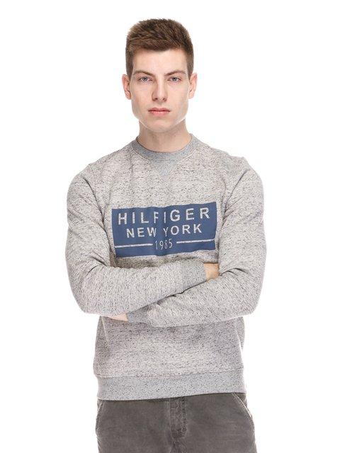 Джемпер сірий з принтом Tommy Hilfiger 3858463