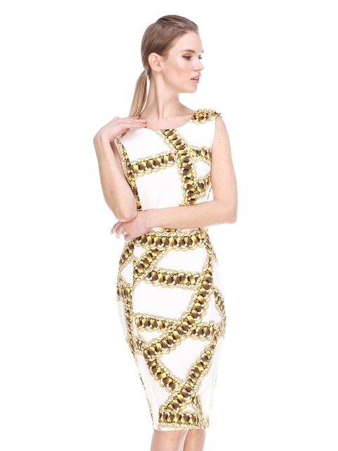 Сукня біла в принт Daniela Drei 3858947