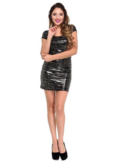 Платье черное с принтом Magnet 3891244