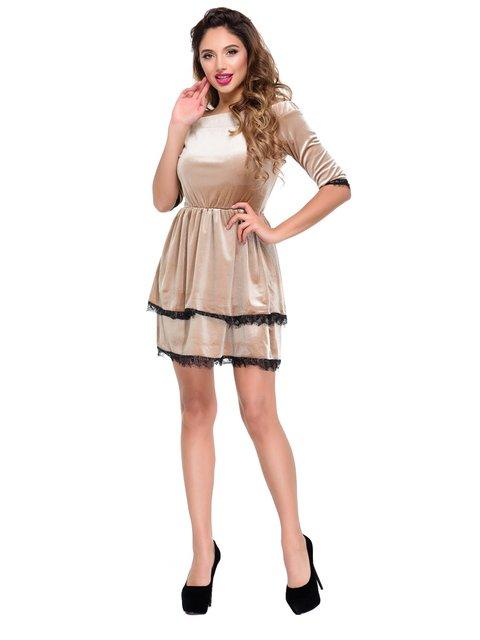 Платье коричневое Magnet 3891258