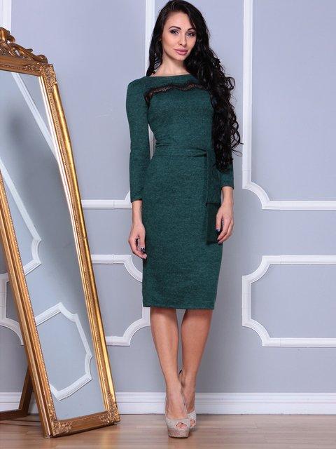 Платье темно-изумрудного цвета Laura Bettini 3891728