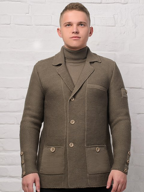 Пиджак цвета капучино G-Rom 3892340