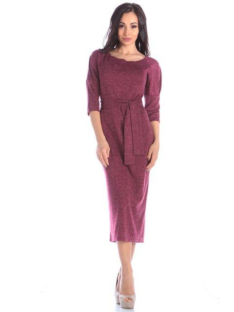 Платье бордовое Laura Bettini 3895672