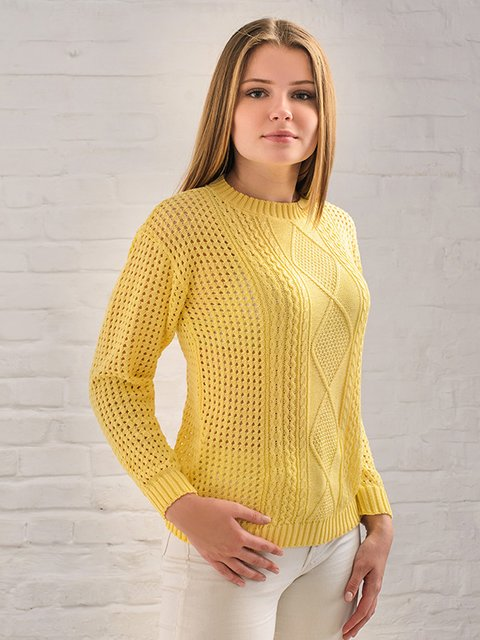 Джемпер желтый G-Rom 3892348